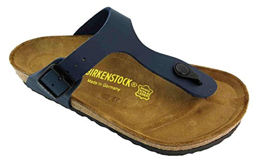 Birkenstock Donna Gizeh Blu Birko-flor Sandali 39 Eu