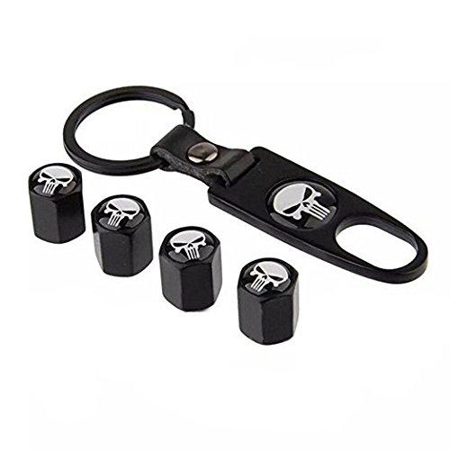 Valve Stem Package (Generic Car Wheel Tyre Tire Stem Air Valve Caps Key Chain Set)