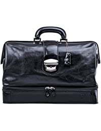 Maxwell Scott Full Grain Leather Large Medical Bag - DonniniL