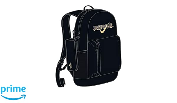 Mochila Nike - Elemental Graphic negro/negro/dorado: Amazon ...
