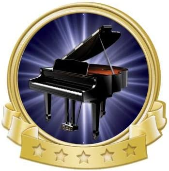 Amazon Com Crown Awards Piano Banner Pin Gold Piano Pins 1 Pack Prime Sports Outdoors