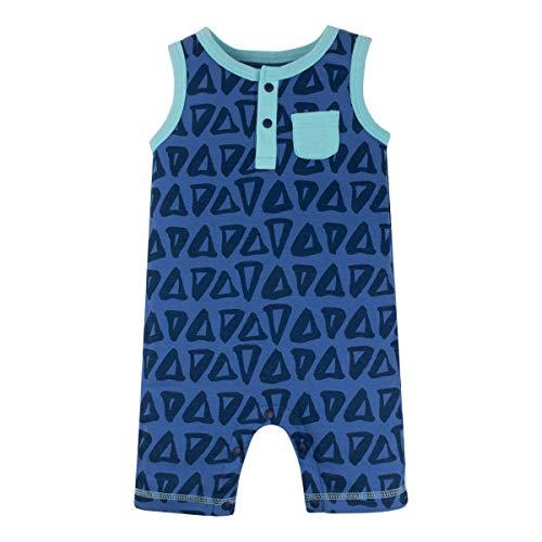 LAMAZE Organic Baby Baby Boys Romper, Blue, -