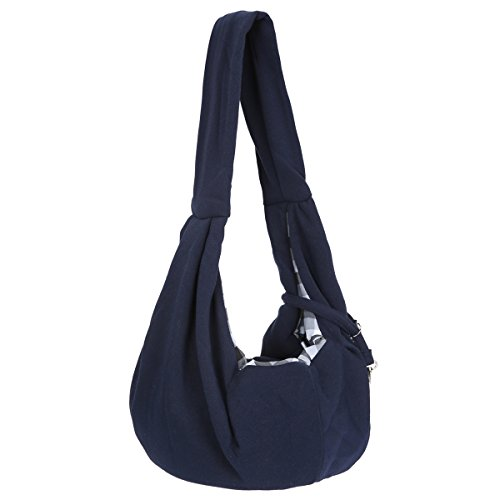 GemTune Jempet Hand-Free Reversible Adjustable Pet Sling Carrier Bag for Small Cats and Dogs Under...
