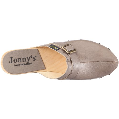 Jonny's Manuela 2025 - Sandalias de vestir de cuero para mujer Gris