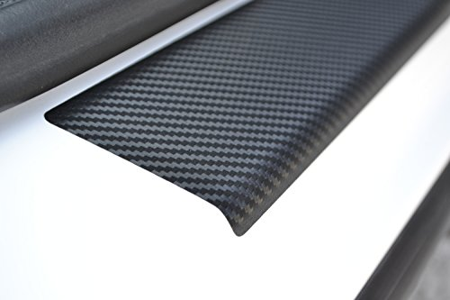 Door Sill Protector Film fit Volkswagen Passat B8 2015- Black Carbon Fiber Texture Decals Vinyl Wrap Scuff Protection Entry Guard 4 pcs Kit