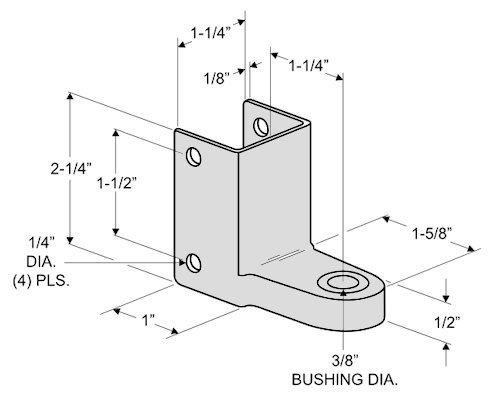 Outswing Door Hardware Repair Pak - for 7/8'' Restroom Partition Door & 1-1/4'' Pilaster by Youngs Catalog (Image #3)