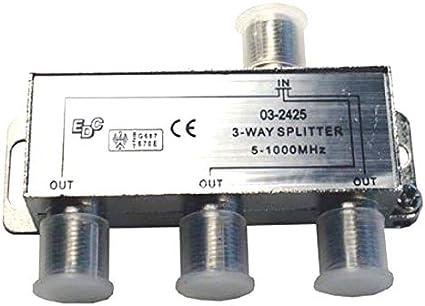 SVD Pro - Cable divisor de cable coaxial (1 entrada, 3 ...