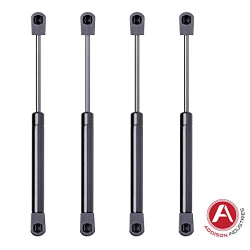 - Addison Top Quality 10 Inch Gas Spring, 80 LBS (356 Newton) Force Each, Set of 4, Strut Gas Prop Gas Lift Support Lift Strut, Featuring Heavy Duty Extra Wide Diameter Tube 18 mm/Rod 8 mm
