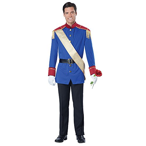 California Costumes Men's Storybook Prince Costume, Blue/Red Small -