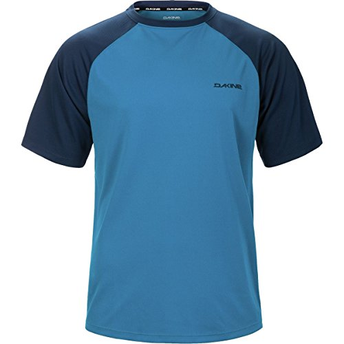 Dakine Men's Dropout Short Sleeve Bike Jersey Shirt, Blue Rock, Midnight, S