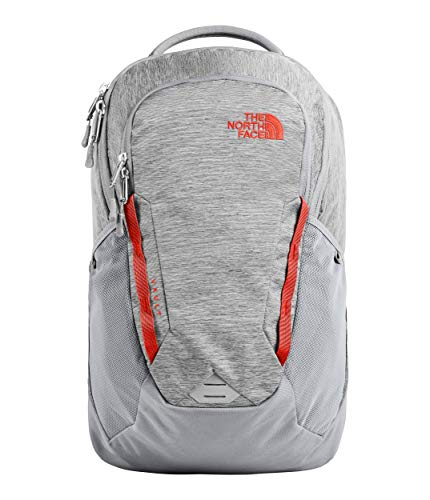 The North Face Unisex Vault Backpack Mid Grey Dark Heather/Fiery Red One Size