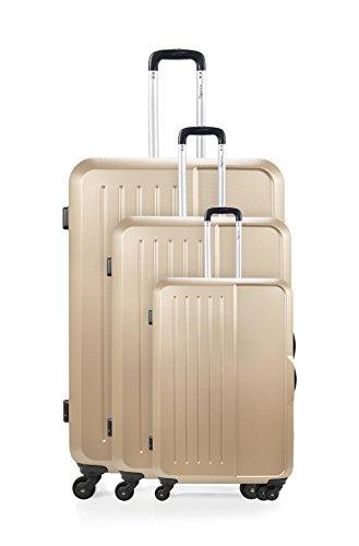 ANTONELLE Set de 3 trolleys rígidos Mabillon Champán Champán
