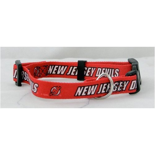 NHL New Jersey Devils Adjustable Pet Collar, X-Small, Team Color