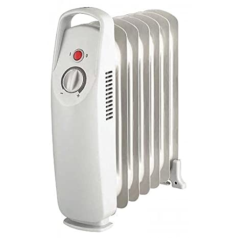 Domair EU1MN506 - Radiador de aceite (tamaño pequeño, 500 W), color gris: Amazon.es: Hogar
