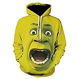 Joyfunny Shrek Pullover Hoodie Animated Comedy Movie Cosplay Hooded Sweatshirt Adult M