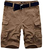 Best Mens Cargo Shorts - Wantdo Men's Belted Shorts with Multi Pockets Cargo Review