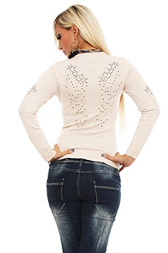 Estelle Fashion - Jerséi - suéter - para mujer Creamy