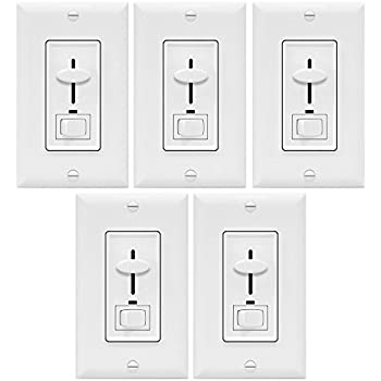 enerlites dimmer light switch 3 way multi location for dimmable incandescent halogen light bulbs in wall electrical dimming switch on off switch