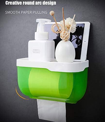 壁掛けトイレットペーパーホルダー、防水衛生紙ディスペンサー浴室用ポータブルティッシュボックスホームバスルームアクセサリー