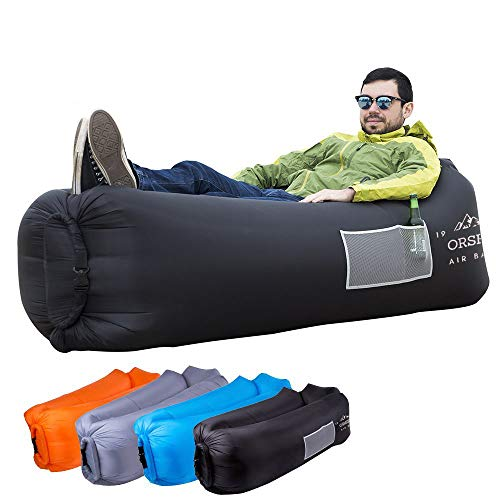 (ORSEN Inflatable Lounger Portable Hammock Air Sofa and Camping Chair with Water Proof& Anti-Air Leaking Design, Ideal Inflatable Couch and Beach Chair Campiping Accessories)