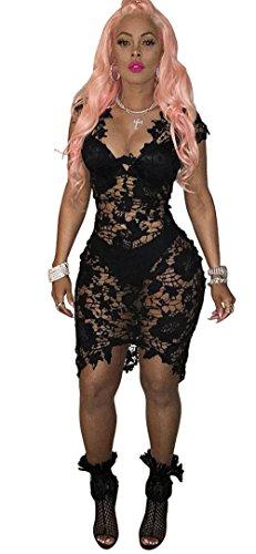 Buy black lace dress china - 8
