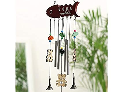 Hanging Sun Iron Art Wind Chime Metal Tubes Decoration Home Garden Window Bells