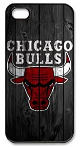 LZHCASE Personalized Protective Case for iPhone 5 - NBA Chicago Bulls in Wood Background