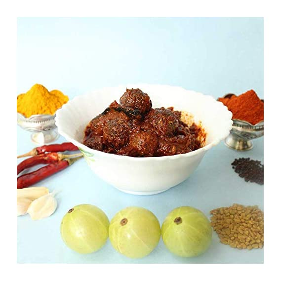 SITARA FOODS - Usirikaya Pachadi / Amla Pickle / Amla Achar (Homemade Andhra Style) 250 Grams