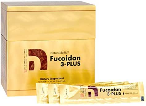 NatureMedic Fucoidan 3Plus Brown Seaweed Immunity Supplement with Organic 50 Liquid Packets/Box Made in Japan (1)