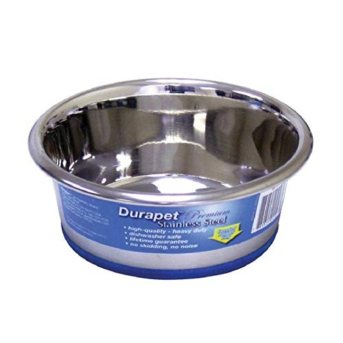 DuraPet Stainless Steel Dog Bowl Capacity: 0.75 Pint/ 1.25 Cups (2 Pack)