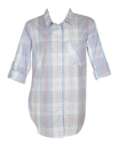Plus-Size-Light-Blue-Plaid-Tunic