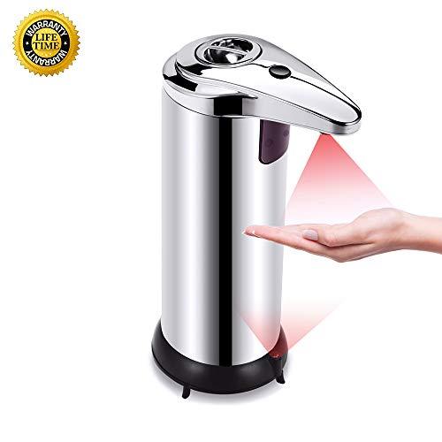 250ML Automatic Soap Dispenser Intelligent Infrared Motion Sensor Liquid Dispenser Bacteriostatic Liquid Shower Touchless Soap Dispenser for Children, Suit for Kitchen Bathroom Hotel