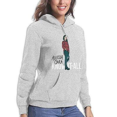 BE-AUTIFUL Alessia Cara Woman Perfect Hoodie Sport Pullover Gray