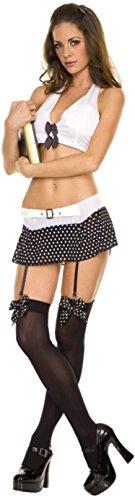 Bow Garter Top (ToBeInStyle Women's Halter Neck Top Polka Dot Bow Polka Dot Garter - SM)