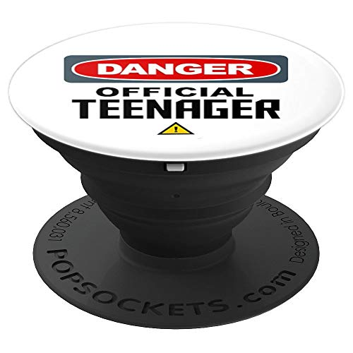 Official Teenager Funny Saying Teen Cute Teenage Slogan - PopSockets Grip and Stand for Phones and Tablets ()