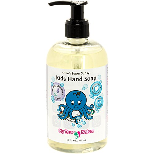 Natural Kids Soap - Ollie's Super Sudsy Liquid Hand Soap - Lavender Scent, 12 (Over Foaming Baby Wash)