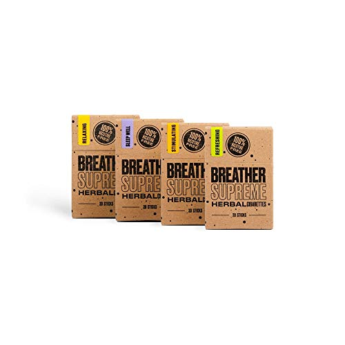Herbal Cigarettes – Tobacco and Nicotine Free 4 Packs 80 Smokes