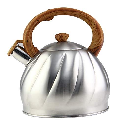 Riwendell Tea Kettle 3.2 Quart Whistling Stainless Steel Sto