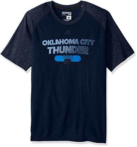 NBA Oklahoma City Thunder Adult Men Reflective Authentic Climate Ultimate S/Tee, 3X-Large, (Navy Authentic Collection)