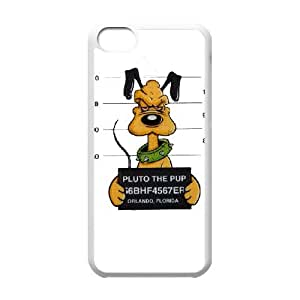 Pluto funda iPhone 5c caja funda del teléfono celular del teléfono celular blanco cubierta de la caja funda EEECBCAAL13565