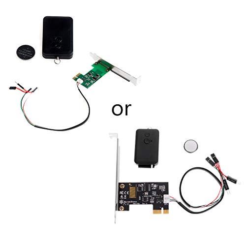 PoityA Mini PCI-e Desktop PC Remote Controller 20m Wireless Restart Switch Turn On/Off