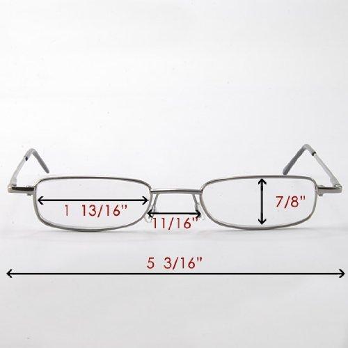 Compact Design Gunmetal Full Frame Reading Glasses Spectacle