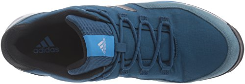 adidas Outdoor Men's Tivid Hiking Shoe, Tech Steel/Black/Shock Blue, 11 M US