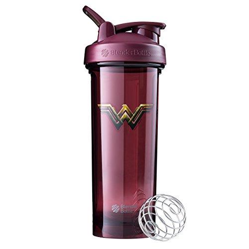 BlenderBottle Justice League Superhero Pro Series 32-Ounce Shaker Bottle, Wonder Woman