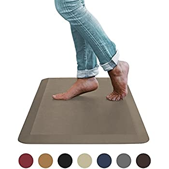 """Sky Mat, Comfort Anti Fatigue Mat, Perfect for Kitchens and Standing Desks, 20 x 39 x 3/4"""" (Brown) (5 Colors, 3 sizes)"""