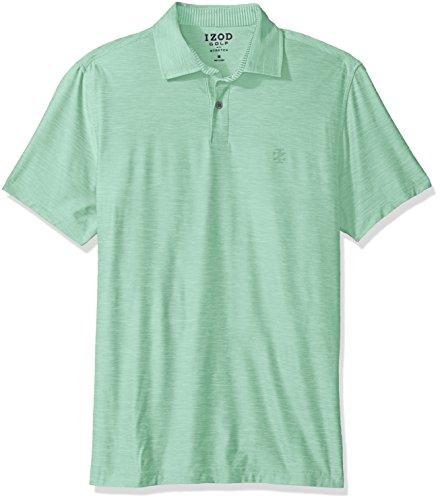 (IZOD Men's Golf Title Holder Short Sleeve Polo, Dusty Jade Green, Small)