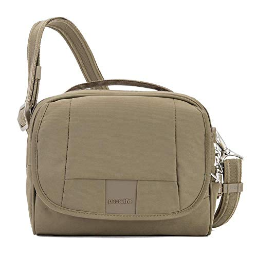 PacSafe Metrosafe Ls140 Anti-Theft Compact Shoulder Travel Cross-Body Bag, Earth Khaki, One Size by Pacsafe