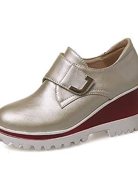ZQ Zapatos de mujer - Tacón Plano - Punta Redonda - Planos - Exterior / Oficina y Trabajo / Casual / Deporte / Fiesta y Noche / Laboral - , white-us9.5-10 / eu41 / uk7.5-8 / cn42 , white-us9.5-10 / eu