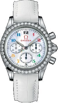 Omega Deville Specialties Olympic Collection Diamond Ladies Watch
