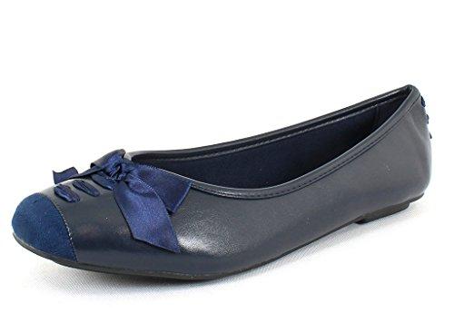 Pierre Dumas Womens Moni 44 Navy Synthetic Casual